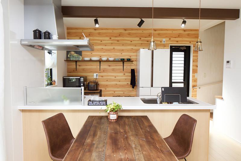 1階が家族団らんの空間になる家 キッチン